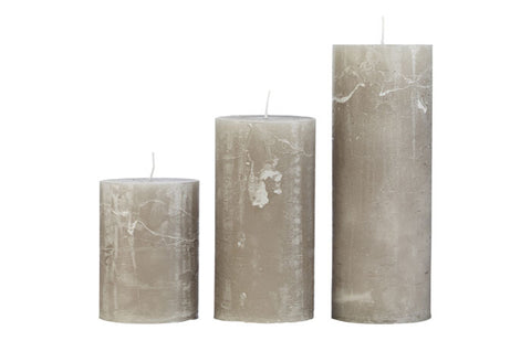 Large Stone Rustic Pillar Candle