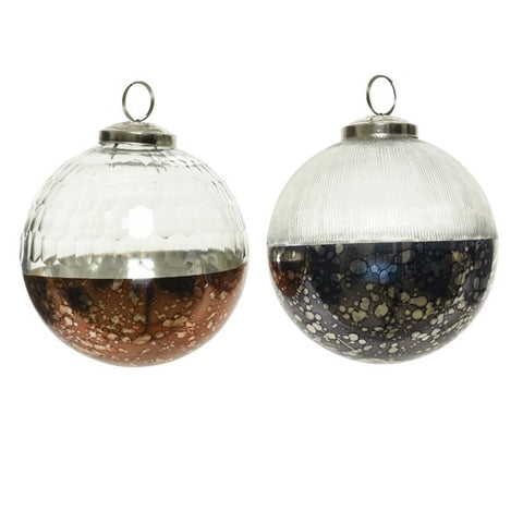 Oil Slick Dots Glass Bauble