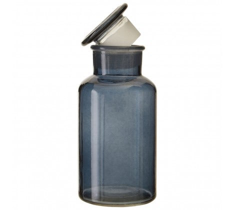 Large Smoke Grey Apothecary Bottle
