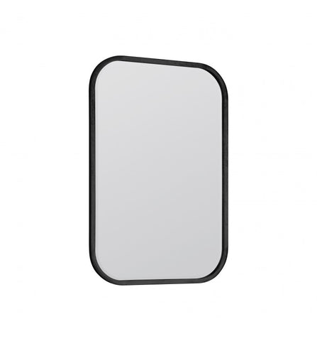 Curved Edge Black Framed Mirror