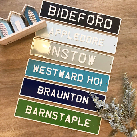 Handmade Metal Sign Local Place Name