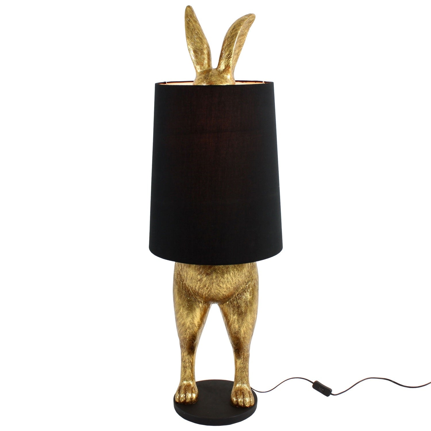 Floor Standing Gold Hare Lamp