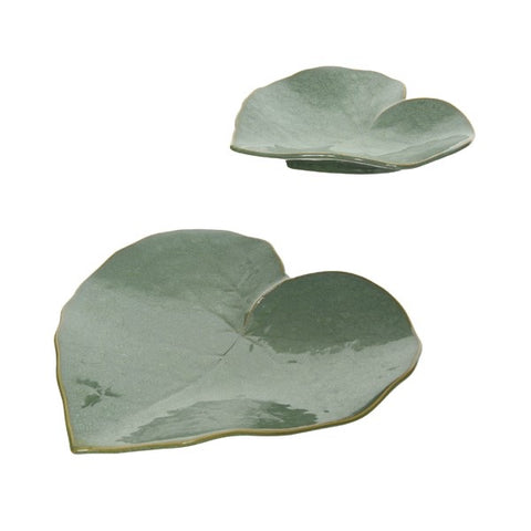 Sage Green Heart Leaf Plate