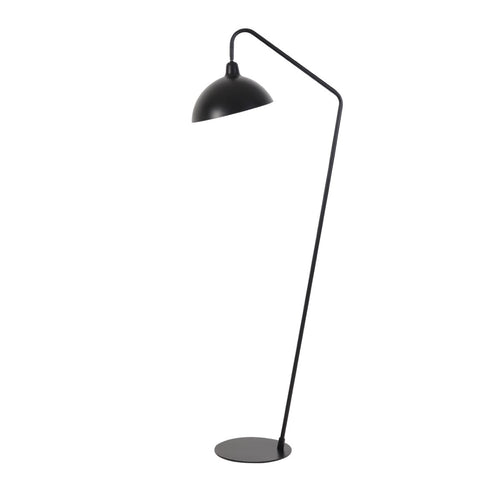 Matte Black Sleek Floor Lamp