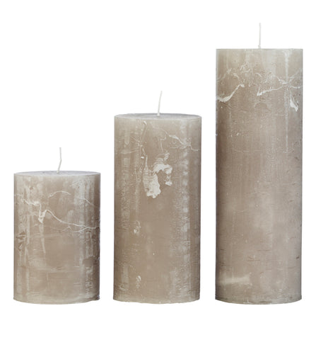 Stone Rustic Pillar Candle