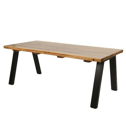 Suar Wood Industrial Dining Table