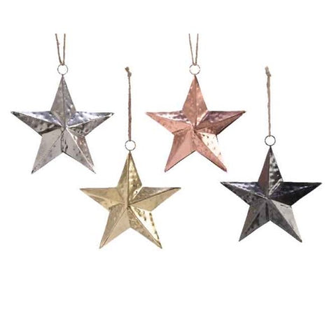 Small Metallic Iron Star 10cm