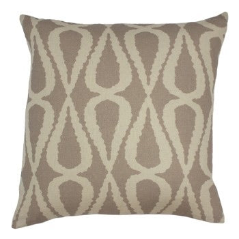 Stone Grey Geometric Cushion
