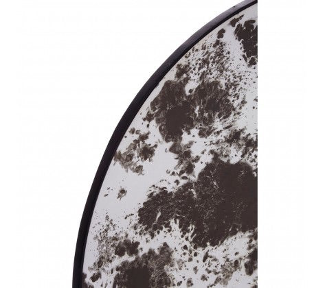 Lunar Large Round Antique Mirror