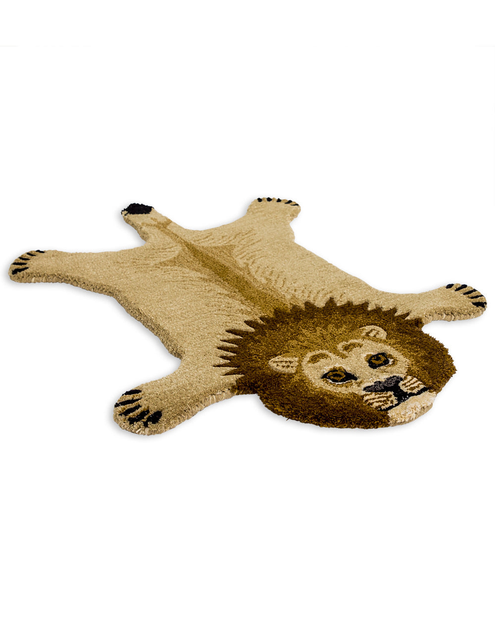 Hand Tufted Lion Wool Rug