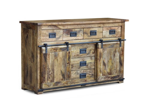 Mango Wood Sideboard with Sliding Doors