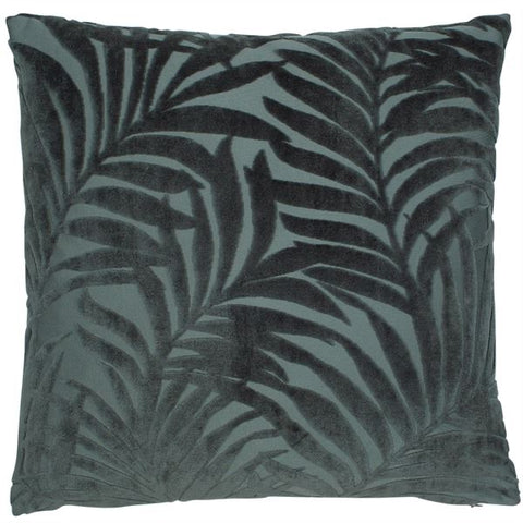 Forest Green Fern Tufted Velvet Cushion
