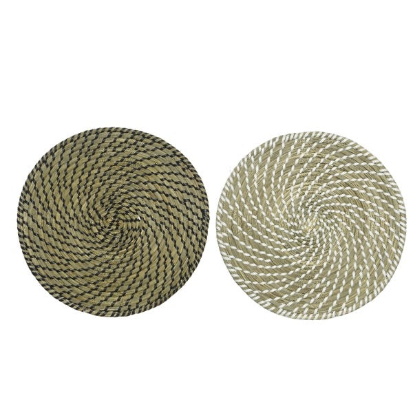 Seagrass Placemat with Woven Spiral Design
