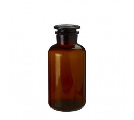 Small Amber Glass Apothecary Bottle