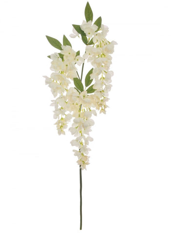 Artificial White Wisteria Stem Flower