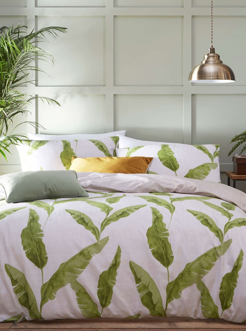 Plantain Leaf Natural Cotton Bedding