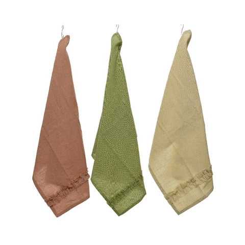 Set of 3 Bright Cotton Tea Towels