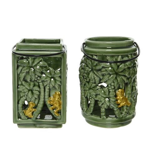 Porcelain Jungle Candle Lantern