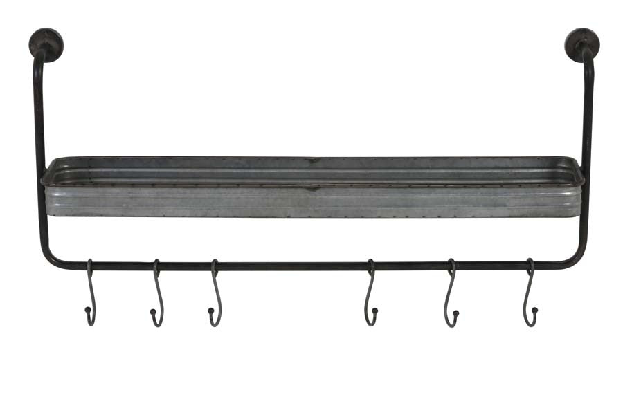 Iron Wall Hook Display with Tray