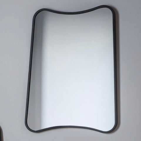 Black Curved Edge Wall Mirror