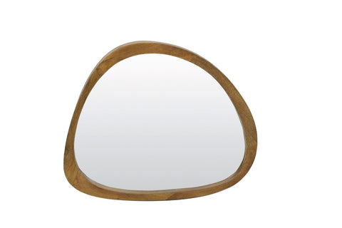 Mango Wood Wonky Wall Mirror