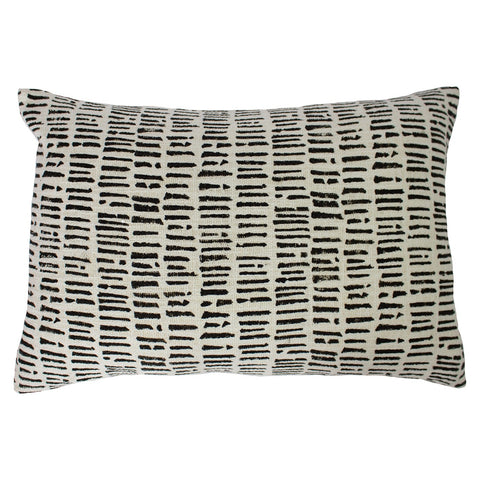 Monochrome Pattern Cotton Cushion