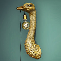 Franz Josef the Gold Ostrich Wall Lamp