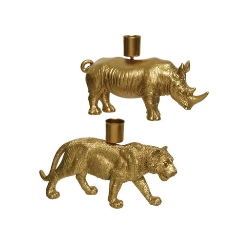 Gold Animal Candle Holder