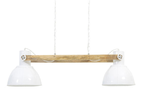 Industrial Barn White Bar Pendant