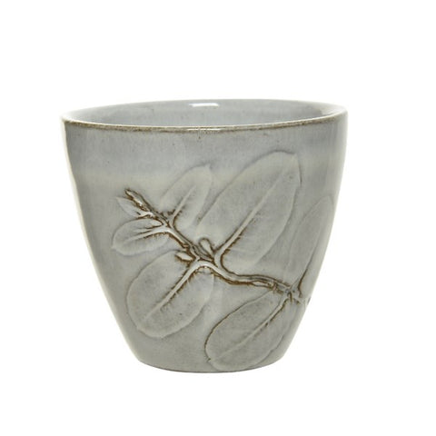 Grey Mug with Eucalyptus Press