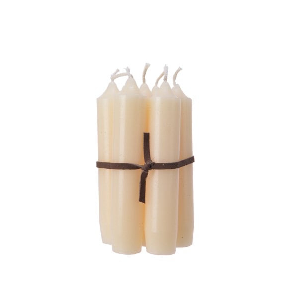 Bundle of 7 Cream Candles