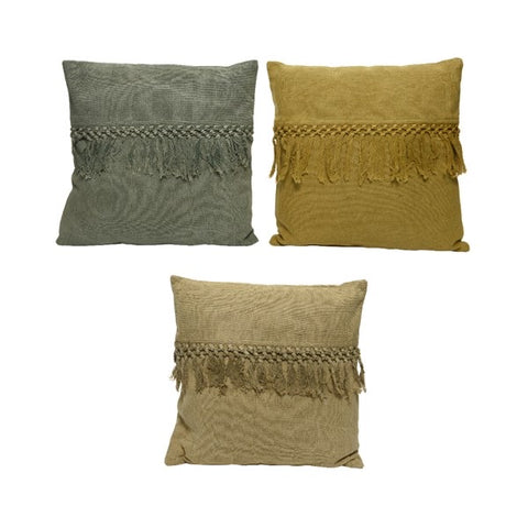 Cotton Fringe Cushion