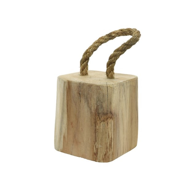 Teak Wood Block Doorstop