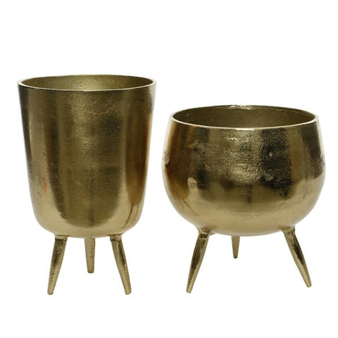 Gold Aluminium Planter on Feet