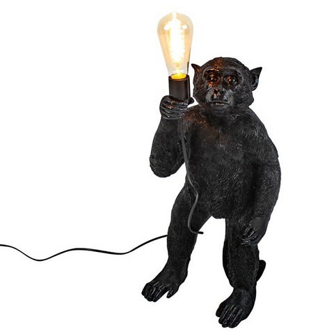 George the Standing Monkey Lamp in Black