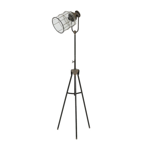 Bronze Industrial Floor Lamp