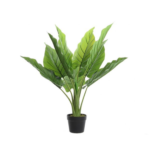 Large Leaf Artificial Plant In Pot