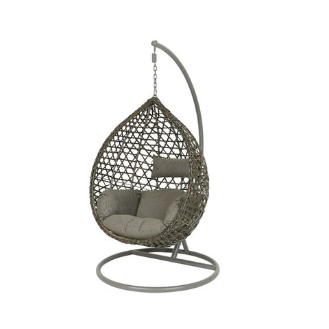Grey Onion Hanging Egg Chair