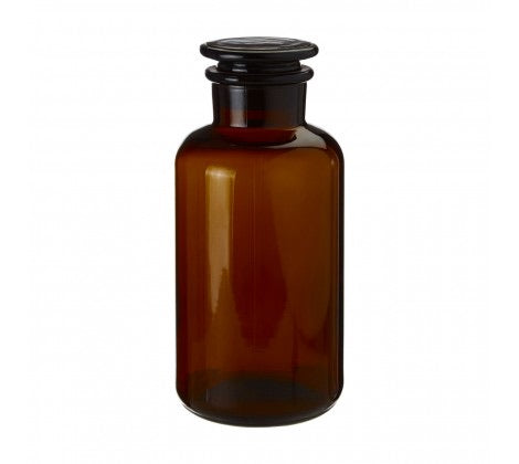 Large Amber Glass Apothecary Bottle
