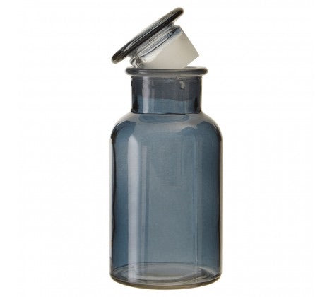 Small Smoke Grey Apothecary Bottle