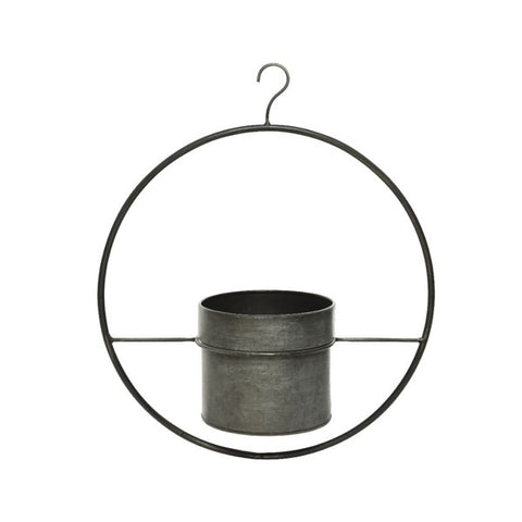 Hanging Iron Planter in Hoop