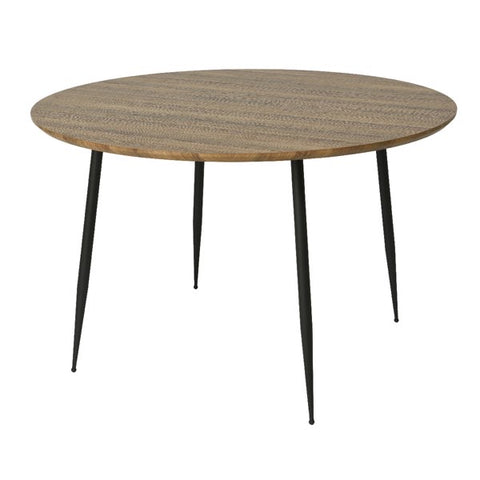 Round Wood Veneer Dining Table