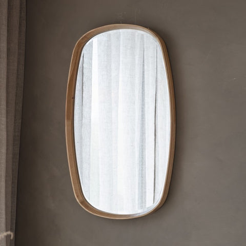 Keaton Oval Oak Mirror 90cm