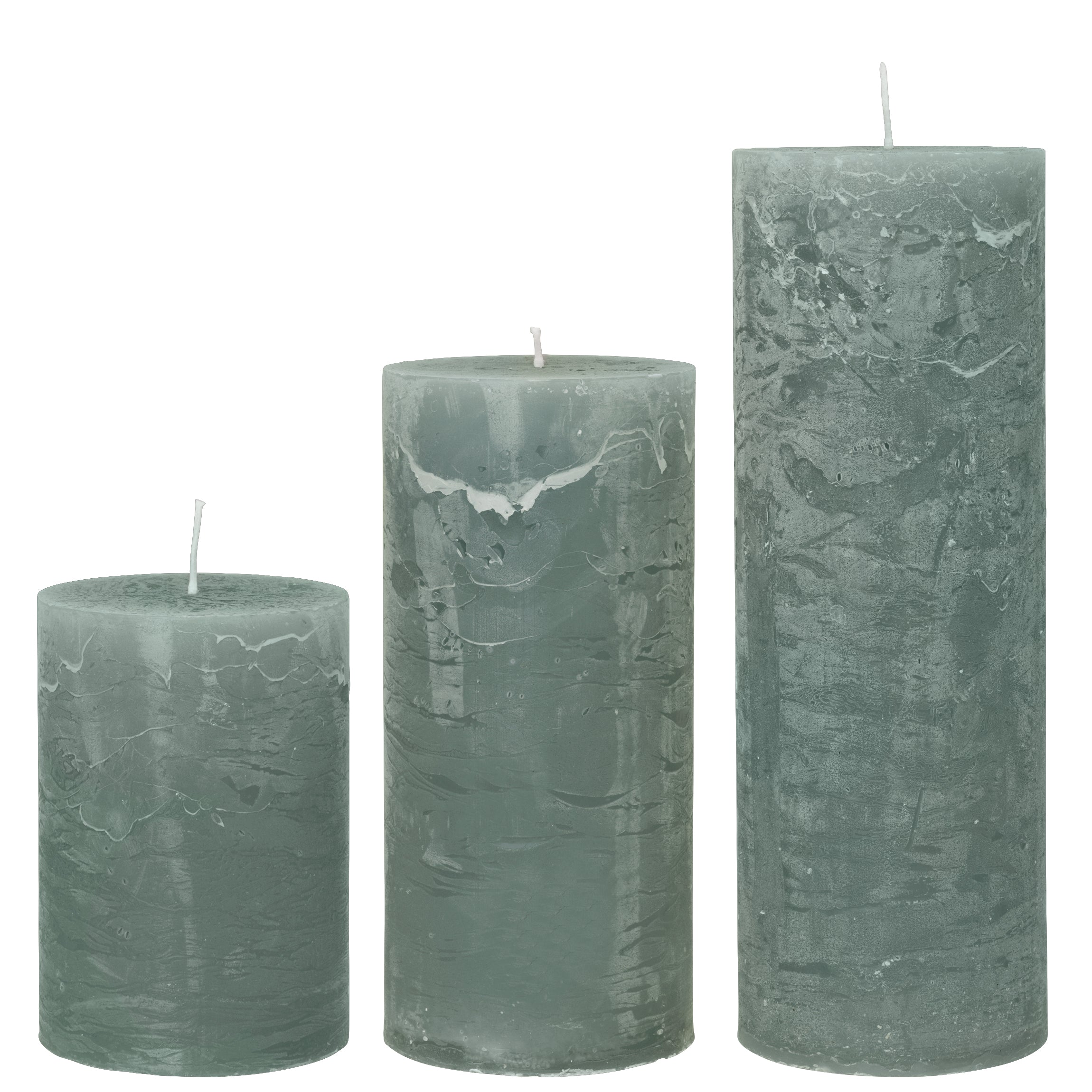 Moss Rustic Pillar Candle