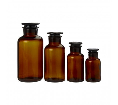 Medium Amber Glass Apothecary Bottle