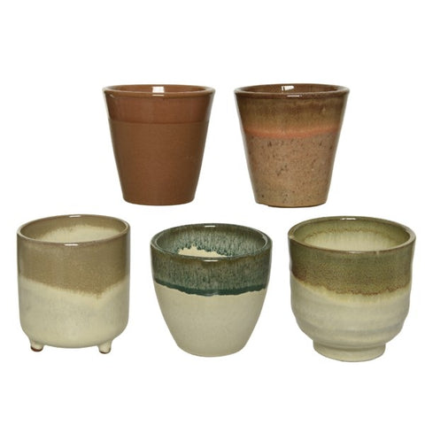 Dipped Glaze Terracotta Planter