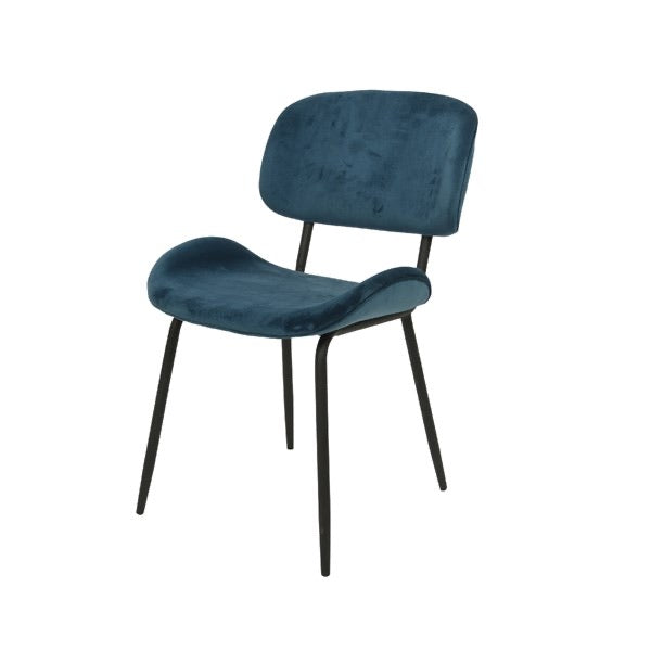 Dark Blue Velvet Dining Chair