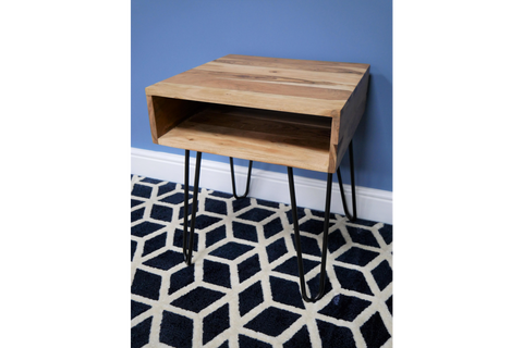 Industrial Hairpin Bedside Table