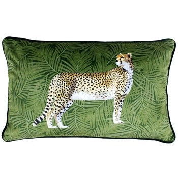 Cheetah Velvet Rectangle Cushion 30x50
