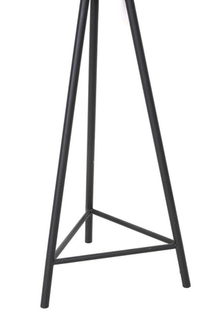 Short Black Cage Industrial Floor Lamp